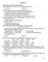14 đề thi thử hóa giải chi tiết phần 4