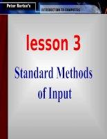 Standard Methods of Input docx