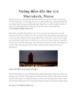Những điểm đến thú vị ở Marrakech, Maroc pot