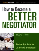 HOW TO BECOME A BETTER NEGOTIATOR potx