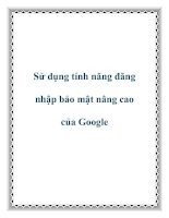 Sử dụng tính năng đăng nhập bảo mật nâng cao của Google docx