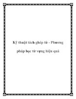Kỹ thuật tách ghép từ - Phương pháp học từ vựng hiệu quả pdf