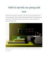 Thiết kế nội thất cho phòng tuổi teen potx