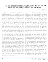 Báo cáo khoa học: Vai trò của Đông kinh nghĩa thục và những nhà thơ Duy Tân trong lĩnh vực văn học pdf
