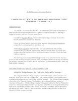 TAKING ADVANTAGE OF THE INSURANCE PROVISIONS IN THE GRAMM-LEACH-BLILEY ACT docx