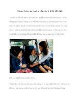 Đảm bảo an toàn cho trẻ khi đi ôtô pptx