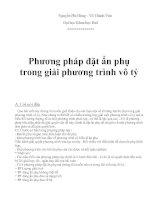 phương pháp giải bài tập phần phương trình chứa căn thức