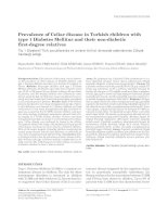 Prevalence of Celiac disease in Turkish children with type 1 Diabetes Mellitus and their non-diabetic first-degree relatives pptx