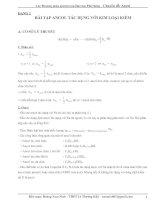 các phương pháp giải bài tập hóa học phổ thông – chuyên đề ancol