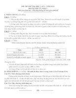 đề thi thử đại học môn địa lý 2014 - lần 1