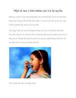 Một số lưu ý khi chăm sóc trẻ bị suyễn ppt
