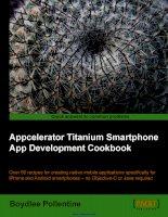 Appcelerator Titanium Smartphone App Development Cookbook ppt