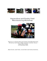 Aquaculture and Poultry Feed Manufacturing Workshop ppt