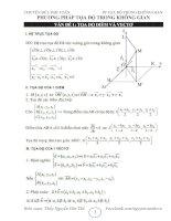 Chuyên đề 4 - LTĐH Toán Phần Tọa độ trong không gian - biên soạn theo CT chuẩn