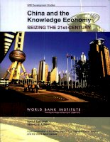 china and the knowledge economy seizing the 21st century ppt