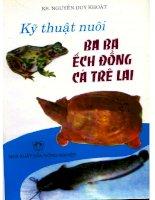 Kỹ thuật nuôi ba ba ếch đồng cá trê lai pot