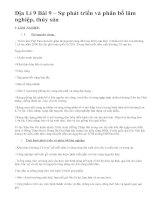 Địa Lí 9 Bài 9 – Sự phát triển và phân bố lâm nghiệp, thủy sản