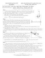 Đề thi học sinh giỏi vật lý 12 tỉnh hải dương