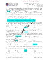 Đề kiểm tra vật lý 12 - Mã đề 149 - TRUNG TÂM LUYỆN THI KHOA HỌC TỰ NHIÊN ( 2012 ) docx