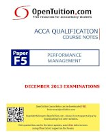 opentuition acca paper f5 december 2013