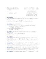 Đề Thi Thử Tuyển Sinh Lớp 10 Toán 2013 - Đề 45 ppt