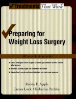 Preparing for Weight Loss Surgery: Workbook docx