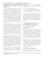 BANK SECRECY ACT, ANTI-MONEY LAUNDERING, AND OFFICE OF FOREIGN ASSETS CONTROL ppt