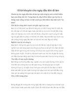 10 lời khuyên cho ngày đầu tiên đi làm potx