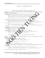 Phân dạng và phuong pháp giải bài tập vật lý 12