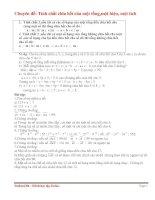 Chuyên đề: Tính chất chia hết của một tổng pdf