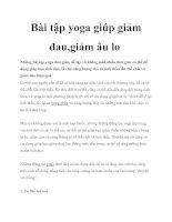Bài tập yoga giúp giảm đau pdf