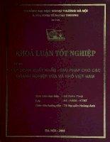 Tập đoàn xuất khẩu - giải pháp cho các doanh nghiệp vừa và nhỏ Việt Nam