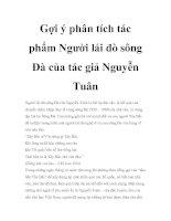 Gợi ý phân tích tác phẩm Người lái đò sông Đà của tác giả Nguyễn Tuân doc