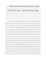 Hình ảnh bé Thu trong truyện ngắn Chiếc lược ngà - Nguyễn Quang Sáng pdf