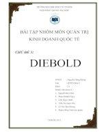 bài tập môn quản trị kinh doanh quốc tế tình huống diebold6