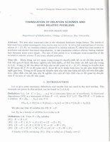 Chuyển dịch sơ đồ quan hệ và một số vấn đề liên quan. docx