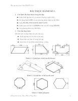 Bài tập thực hành Auto Cad 2007 - Bài thực hành số 1 docx