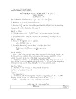 Đề thi và đáp án môn toán thi học sinh giỏi lớp 12 trường cấp 3 nông cống I tỉnh Thanh Hóa