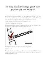 Kỹ năng thuyết trình hiệu quả: 8 bước giúp bạn gây ảnh hưởng tốt pptx