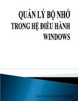 Quản lý bộ nhớ trong hệ điều hành windows potx