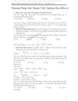 một số phương pháp giải nhanh toán hữu cơ