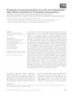 Báo cáo khoa học: Synthesis and characterization of a new and radiolabeled high-affinity substrate for H+/peptide cotransporters pdf
