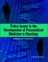 Policy Issues In The Development Of Personalized Medicine in Oncology docx