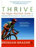 THRIVE the vegan nutrition guide to optimal performance in sports and life pdf