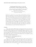 THÀNH PHẦN LOÀI LƯỠNG CƯ, BÒ SÁT Ở VÙNG RỪNG CÀ ĐAM, TỈNH QUẢNG NGÃI pdf