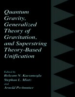 Quantum gravity, generalized theory of gravitation, and superstring theory based unification   mintz,perlmutter