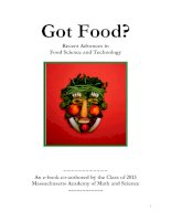Got Food? Recent Advances in Food Science and Technology docx