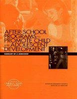AFTER-SCHOOL PROGRAMSTO PROMOTE CHILD AND ADOLESCENT DEVELOPMENT potx