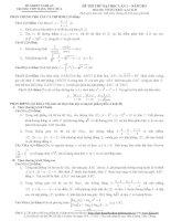 ĐỀ THI THỬ ĐẠI HỌC LẦN 1 - NĂM 2013 MÔN TOÁN; Khối: A,A1 & B THPT ĐẶNG THÚC HỨA doc