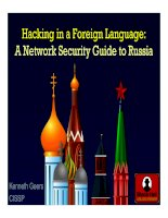 HACKING IN A FOREIGN LANGUAGE: A NETWORK SECURITY GUIDE TO RUSSIA pot